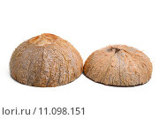 Купить «Coconut isolated on white», фото № 11098151, снято 17 февраля 2019 г. (c) PantherMedia / Фотобанк Лори