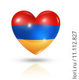 Купить «Love Armenia, heart flag icon», иллюстрация № 11112827 (c) PantherMedia / Фотобанк Лори