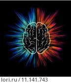 Купить «brain infographic template», иллюстрация № 11141743 (c) PantherMedia / Фотобанк Лори