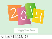 Купить «Happy New Year 2014 signs greeting card», иллюстрация № 11155459 (c) PantherMedia / Фотобанк Лори