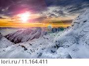 Купить «Winter mountains scenic view with frozen snow and icing», фото № 11164411, снято 21 марта 2019 г. (c) PantherMedia / Фотобанк Лори