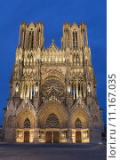 Купить «Cathedral of Reims, Marne, Champagne-Ardenne, France», фото № 11167035, снято 19 августа 2018 г. (c) PantherMedia / Фотобанк Лори