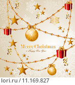 Купить «Merry Christmas elements background EPS10 vector file.», иллюстрация № 11169827 (c) PantherMedia / Фотобанк Лори