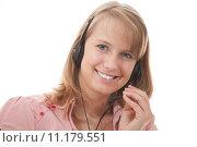 Купить «woman work office job phone», фото № 11179551, снято 25 апреля 2019 г. (c) PantherMedia / Фотобанк Лори