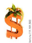 Банковская концепция, фигурка доллар сша. Стоковое фото, фотограф Наталья Буравлева / Фотобанк Лори