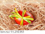 Купить «easter eggs with ribbon», фото № 11210951, снято 17 февраля 2019 г. (c) PantherMedia / Фотобанк Лори