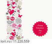 Купить «Vintage Valentine`s day greeting card», иллюстрация № 11220559 (c) PantherMedia / Фотобанк Лори
