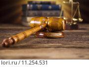 Купить «Judge gavel», фото № 11254531, снято 6 июля 2020 г. (c) PantherMedia / Фотобанк Лори