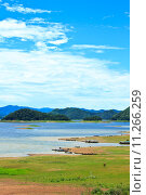 Купить «Views over the reservoir Kaengkrachan dam», фото № 11266259, снято 22 июля 2019 г. (c) PantherMedia / Фотобанк Лори