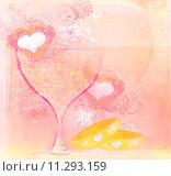 Купить «wedding Invitation card with rings», иллюстрация № 11293159 (c) PantherMedia / Фотобанк Лори