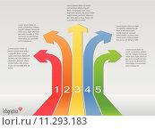 Infographics Arrow Banners, Vector Illustration. Стоковая иллюстрация, иллюстратор Nelson Marques / PantherMedia / Фотобанк Лори