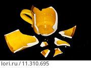 Купить «Broken Orange Coffe Cup», фото № 11310695, снято 24 сентября 2018 г. (c) PantherMedia / Фотобанк Лори