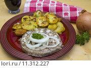 Купить «headcheese bratkartoffel graue hausmacherwurst presssack», фото № 11312227, снято 20 марта 2019 г. (c) PantherMedia / Фотобанк Лори