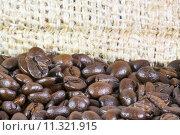 Купить «Coffee beans details», фото № 11321915, снято 20 сентября 2019 г. (c) PantherMedia / Фотобанк Лори