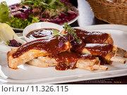 Купить «food restaurant meat bbq barbeque», фото № 11326115, снято 20 сентября 2019 г. (c) PantherMedia / Фотобанк Лори