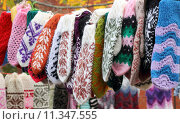 Купить «It is the various patterns knitted mitten», фото № 11347555, снято 23 июля 2019 г. (c) PantherMedia / Фотобанк Лори