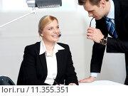 Купить «Business colleagues having a great time», фото № 11355351, снято 25 апреля 2019 г. (c) PantherMedia / Фотобанк Лори