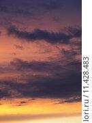 Купить «dramatic sunset Sunrise Sky with clouds», фото № 11428483, снято 15 сентября 2019 г. (c) PantherMedia / Фотобанк Лори