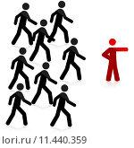 Купить «Follow the leader», иллюстрация № 11440359 (c) PantherMedia / Фотобанк Лори