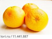Купить «Fresh composition of yellow and red grapefruits.», фото № 11441887, снято 24 мая 2019 г. (c) PantherMedia / Фотобанк Лори