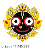 Купить «Jagannath. Indian God of the Universe.», иллюстрация № 11445691 (c) PantherMedia / Фотобанк Лори