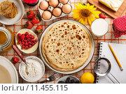 Freshly made pancakes. Стоковое фото, фотограф Cseh Ioan / PantherMedia / Фотобанк Лори