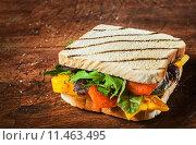 Купить «Grilled wholewheat cheese and salad sandwich», фото № 11463495, снято 15 ноября 2019 г. (c) PantherMedia / Фотобанк Лори