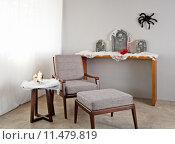 Купить «Grey upholstered chair», фото № 11479819, снято 23 марта 2019 г. (c) PantherMedia / Фотобанк Лори