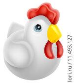 Купить «Cartoon chicken icon», иллюстрация № 11493127 (c) PantherMedia / Фотобанк Лори