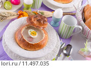Купить «bright easter egg soup polish», фото № 11497035, снято 23 января 2020 г. (c) PantherMedia / Фотобанк Лори