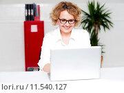 Купить «Beautiful woman working in labtop», фото № 11540127, снято 20 апреля 2018 г. (c) PantherMedia / Фотобанк Лори