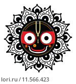Купить «Jagannath. Indian God of the Universe.», иллюстрация № 11566423 (c) PantherMedia / Фотобанк Лори