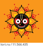 Купить «Jagannath. Indian God of the Universe.», иллюстрация № 11566435 (c) PantherMedia / Фотобанк Лори