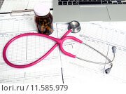Купить «stethoscope and labtop and other medical object», фото № 11585979, снято 20 сентября 2018 г. (c) PantherMedia / Фотобанк Лори