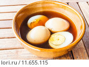 Купить «Hard-boiled eggs stew with sweet gravy», фото № 11655115, снято 20 сентября 2019 г. (c) PantherMedia / Фотобанк Лори