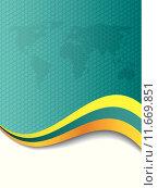 Купить «Cool company brochure design with hexagon world map», иллюстрация № 11669851 (c) PantherMedia / Фотобанк Лори
