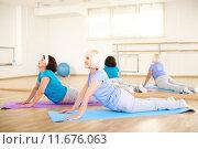 Купить «Stretching exercise», фото № 11676063, снято 22 октября 2018 г. (c) PantherMedia / Фотобанк Лори