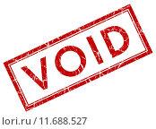 Купить «Void square grunge red stamp», иллюстрация № 11688527 (c) PantherMedia / Фотобанк Лори