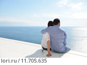 Купить «relaxed young couple at home», фото № 11705635, снято 20 сентября 2019 г. (c) PantherMedia / Фотобанк Лори