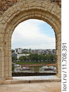 Купить «view of urban port from Angers Castle», фото № 11708391, снято 12 декабря 2017 г. (c) PantherMedia / Фотобанк Лори