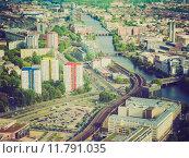 Купить «Retro look Berlin aerial view», фото № 11791035, снято 20 сентября 2019 г. (c) PantherMedia / Фотобанк Лори