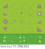 Купить «Set of diagram and graph color icons», иллюстрация № 11798931 (c) PantherMedia / Фотобанк Лори