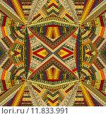 Купить «Tribal background with optical effect», иллюстрация № 11833991 (c) PantherMedia / Фотобанк Лори