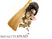 Деньги в мусор - коллапс, кризис финансового рынка. Стоковое фото, фотограф Анна Никонорова / Фотобанк Лори