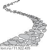 Купить «Isolated Stone Path», иллюстрация № 11922435 (c) PantherMedia / Фотобанк Лори