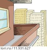 Купить «Empty Condominium Balcony», иллюстрация № 11931627 (c) PantherMedia / Фотобанк Лори