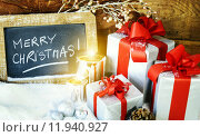 Купить «gift boses and candles for christmas», фото № 11940927, снято 21 октября 2018 г. (c) PantherMedia / Фотобанк Лори