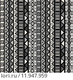 Купить «Seamless pattern with tribal ornaments for wrapping paper, textile, packaging», иллюстрация № 11947959 (c) PantherMedia / Фотобанк Лори