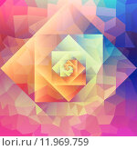 Купить «Vintage optic art geometric pattern», иллюстрация № 11969759 (c) PantherMedia / Фотобанк Лори