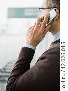 Купить «Man on cellphone», фото № 12026015, снято 22 января 2019 г. (c) PantherMedia / Фотобанк Лори